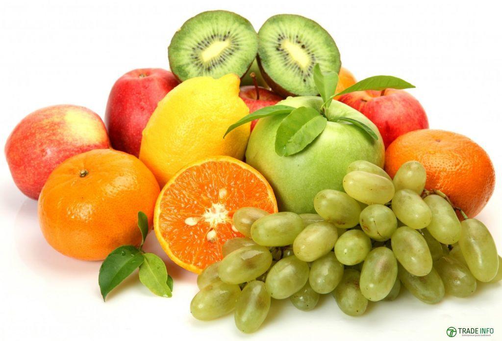 Лимоны,Гранаты,Виноград,Киви,Хурма